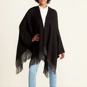 NWT Steve Madden Black Reversible Two-Face Shawl